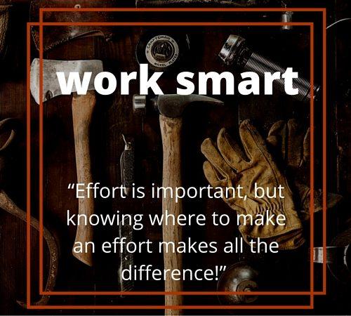 Taking Territories - Work Smart